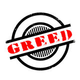 Greed rubber stamp Royalty Free Stock Image
