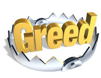 Greed Trap. Gold word Debt in center of shiny steel trap with sharp teeth. Symbol of financial risk. Isolated 3D illustration. Horizontal format Stock Images