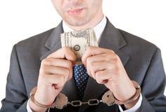 Greedness de gestionnaire Photo libre de droits