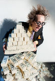 Greedy banker Royalty Free Stock Image