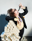 Greedy banker Stock Photography
