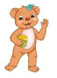 Greedy bear Stock Image