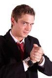 Greedy business man Stock Photography