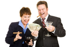 Greedy Business Partners Stock Image