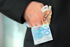 Greedy businessman Stock Images