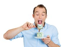 Greedy CEO, man Royalty Free Stock Images