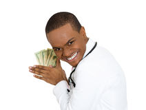 Greedy doctor Stock Photos