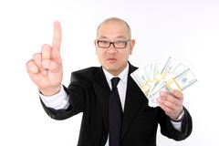 Greedy executive Royalty Free Stock Photos