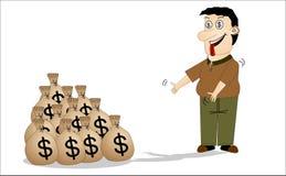 Greedy man Stock Photo