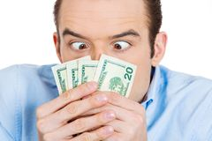Greedy man Royalty Free Stock Images