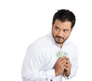 Greedy man Royalty Free Stock Photos
