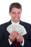 Greedy Man in a Suit Stock Image
