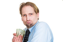 Greedy miser Royalty Free Stock Photography