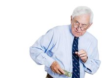 Greedy old man Stock Photography