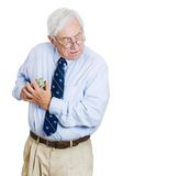 Greedy old man Stock Image