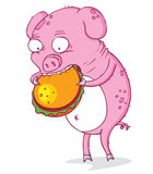 The greedy pig Stock Photography