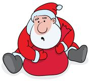 Greedy Santa Claus Royalty Free Stock Photo