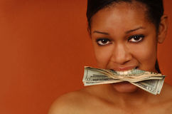 Greedy Woman Stock Photo