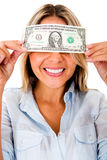 Greedy woman Stock Photography