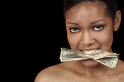 Greedy Woman Stock Images