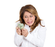 Greedy woman Stock Image