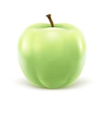 Greeen apple  on white background Stock Images