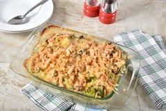 Greeen Bean Casserole con bróculi foto de archivo