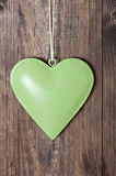 Greeen heart Royalty Free Stock Photos