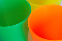 Greeen and orange glasses Royalty Free Stock Image