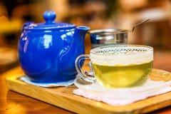 Healthy greeen tea on the wooden table. Greeen tea on the wooden table Stock Images