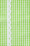 Greeen and white tablecloth Royalty Free Stock Images
