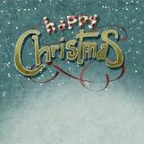 Greeiting Weihnachten Stockbild