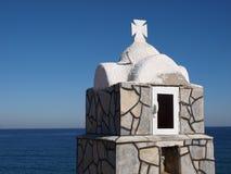 Greek. Little chapel on the coast in greece Stock Image