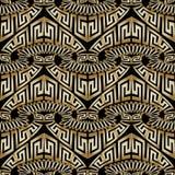 Greek abstract vector seamless pattern. Ornamental patterned creative background. Geometric decoatie ornamens. Ornate design with greek key, meanders, geometry royalty free illustration
