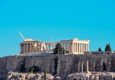 Greek Acropolis. Beautiful view of Mount Acropolis in Greece Royalty Free Stock Image