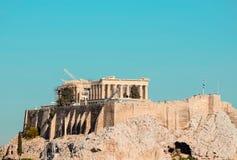 Greek Acropolis. Beautiful view of Mount Acropolis in Greece Royalty Free Stock Photo