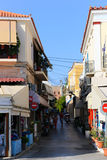 Greek Alley - Aegina island, Greece Stock Photos