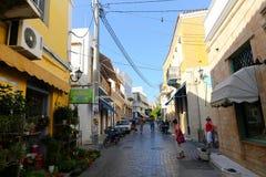 Greek Alley - Aegina island, Greece Stock Images