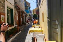 Greek Alley Stock Photo