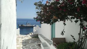 Greek alley. Typical greek alley in Sifnos, Greece Royalty Free Stock Images