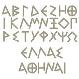 Greek Alphabet Royalty Free Stock Image