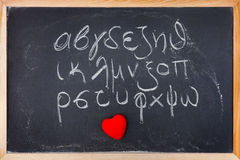 Greek alphabet Royalty Free Stock Photography
