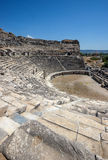 Greek amphitheater in Miletus Stock Photos