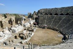 Greek Amphitheater, Side Stock Photos