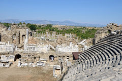 Greek Amphitheater, Side Stock Photo