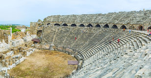 Greek Amphitheater of Side Stock Images