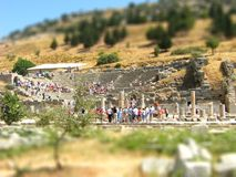Greek amphitheater tilt shift Stock Image
