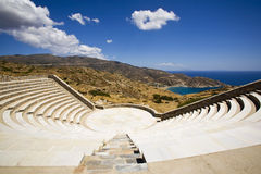 Greek Amphitheatre, Greece. Greek Amphitheatre on the island of Ios, Cyclades, Greece Royalty Free Stock Photo