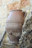 Greek amphora encruster Royalty Free Stock Image