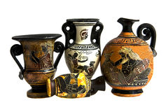 Greek amphoras Stock Photography